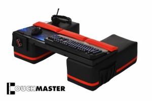 Couchmaster ♥ Multimediasessel ♥ Sessel mit Lautsprecher ♥ schwarz / rot