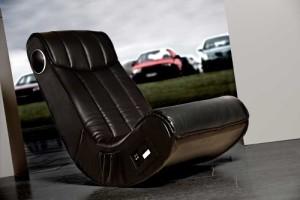 Soundsessel, 1 x Subwoofer, 2 x Lautsprecher eingebaut ♥ Multimediasessel, Sessel mit Lautsprecher ♥ 19 kg ♥ schwarz