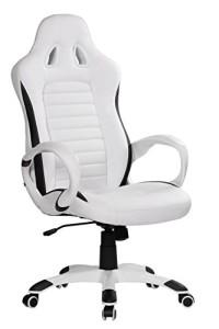 Racer Bürostuhl ♥ Chefsessel  ♥ 18 kg ♥ weiß