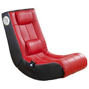 Soundsessel, 1 x Subwoofer, 2 x Lautsprecher eingebaut ♥ Sessel mit Lautsprecher, Sessel mit Lautsprecher  ♥ 18 kg ♥ rot