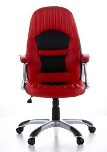 hjh OFFICE 621300 Zockersessel | Gamerstuhl RACER 200 Kunstleder rot | Gamersessel