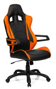 Gamer Stuhl ♥ Bürostuhl ♥ Racing Bürostuhl ♥ 17.4 kg ♥ schwarz / orange