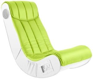 Soundsessel, 1 x Subwoofer ♥ Multimediasessel, Sessel mit Lautsprecher  ♥ 19 kg ♥ weiß / lime