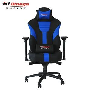 Bürosessel ♥ Racing Bürostuhl  ♥ 25 kg ♥ schwarz / blau