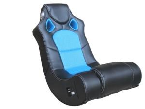 Soundsessel mit Subwoofer im Rücken ♥ Multimedia Sessel, Chillsessel ♥ 18 kg ♥ schwarz / blau