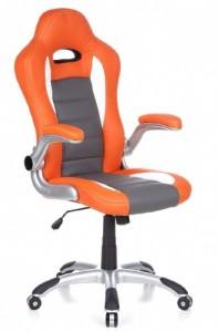 Gaming Stuhl / Bürostuhl  ♥ Bürostuhl günstig ♥ 15 kg ♥ orange / weiß