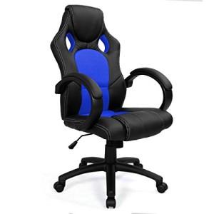 Computerstuhl ♥ Zockersessel ♥ k.A. ♥ schwarz / blau