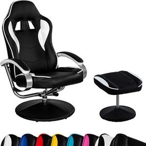 Gamer Stuhl ♥ Racing Bürostuhl  ♥ 24 kg ♥ schwarz / weiß