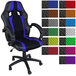 Racing Bürostuhl  ♥ Bürostuhl günstig ♥ 15 kg ♥ schwarz / weiß
